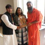हिन्दी ग्राम को मिला स्वामी रामदेव जी का आशीष
