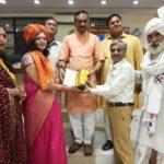 राष्ट्रीय स्तरीय सम्मान समारोह में राजेश पुरोहित विलक्षणा समाज सारथी सम्मान से सम्मानित