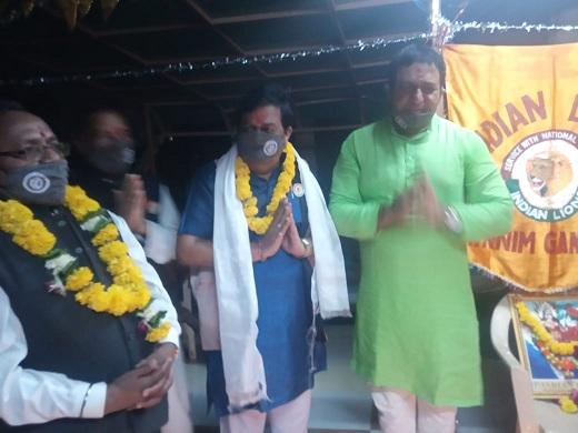 इंडियन लायंस गांधीनगर स्वर्णिम क्लब आयोजित ज़न जागरुकता नवरात्रि महोत्सव का उद्घाटन श्री नाझाभाई घाघर डेप्युटी मेयर गांधीनगर ने किया